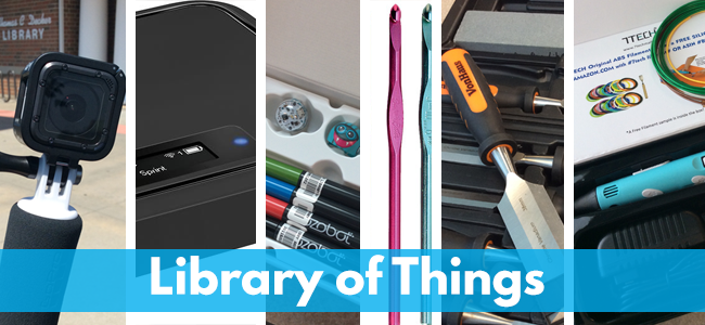 Library of Things webpage